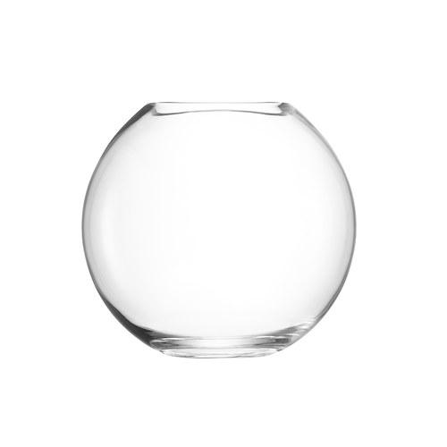 英國LSA 晶透球形玻璃花器(高24公分)