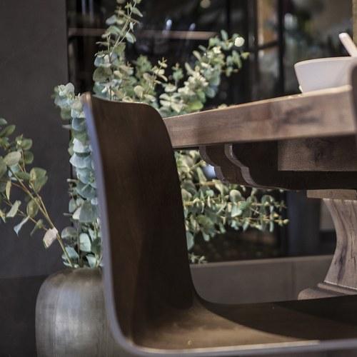 丹麥Sketch 簡約木作L型單椅 (咖啡)