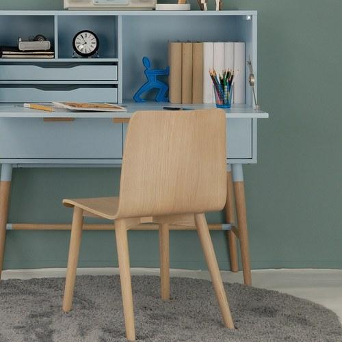 丹麥Sketch 簡約木作L型單椅 (橡木)