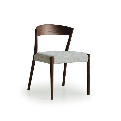 丹麥Sketch 一字深木色靠背單椅 (銀灰)