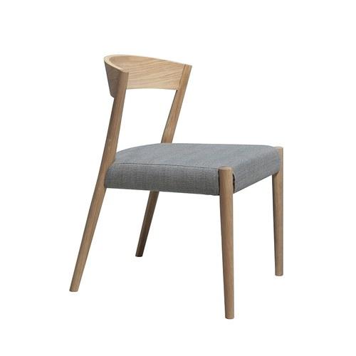 丹麥Sketch 一字淺木色靠背單椅 (銀灰)