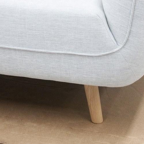 丹麥Sketch 柔軟線條布面2.5人沙發 (灰)
