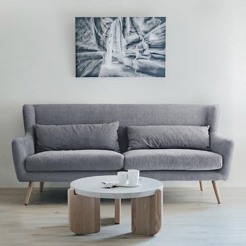 丹麥Sketch 北歐優雅扶手三人沙發 (暖灰)