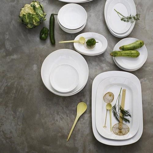 丹麥tineKhome 清雅白瓷長形餐盤 (長49公分)