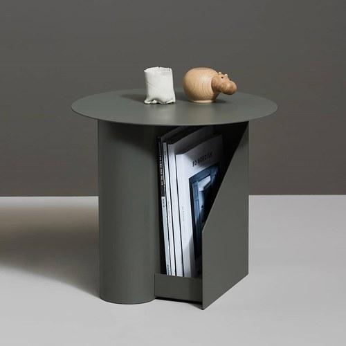 丹麥WOUD SENTRUM金屬收納邊桌 (綠)