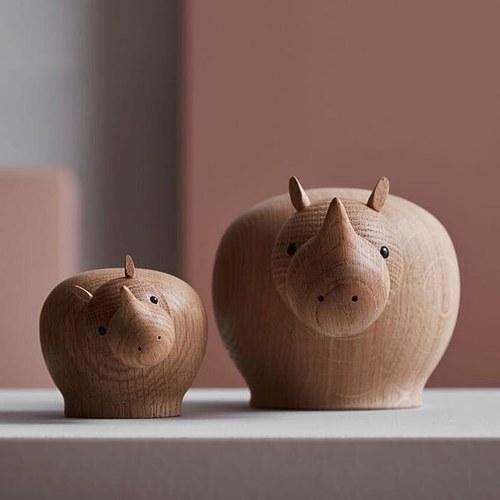 丹麥WOUD RINA犀牛原木擺飾 (高7公分)