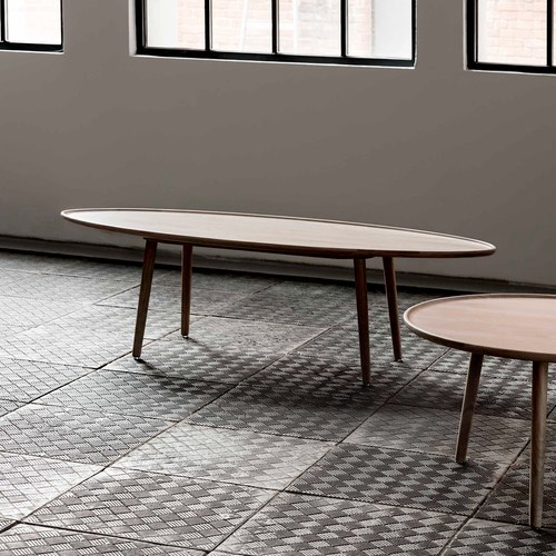波蘭Sits 核桃木橢圓咖啡桌