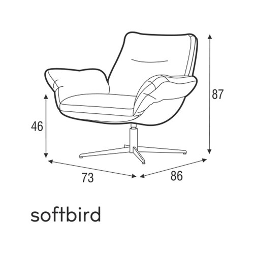 波蘭Sits 展翅系列單椅 (灰)
