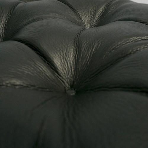 波蘭Sits 飛躍系列皮革腳凳 (黑)