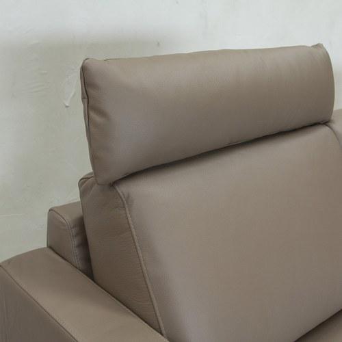 波蘭Sits 家庭日時光皮革右向L型沙發 (淺棕)