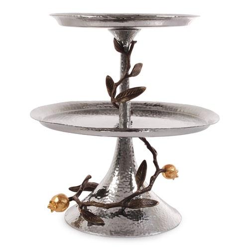 美國MichaelAram工藝飾品 鮮嫩石榴系列雙層點心架