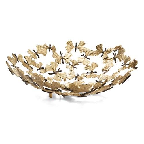 美國MichaelAram工藝飾品 銀杏蝴蝶系列裝飾托盤 (直徑47公分)