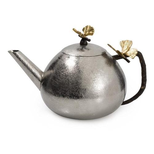 美國MichaelAram 銀杏蝴蝶翅膀圓弧型茶壺