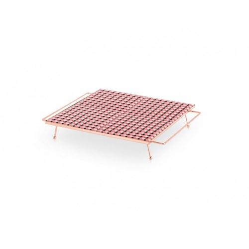西班牙GanRugs 普普風方塊磁磚高架托盤 (粉黑)