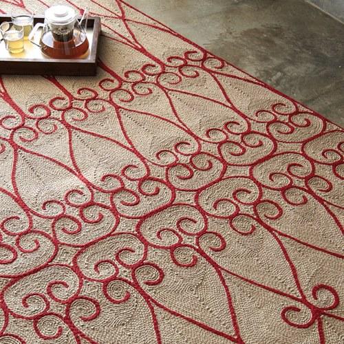 西班牙GanRugs 古典編織楔型地毯 (紅)