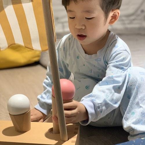 西班牙Nobodinoz 木製小廚師冰淇淋玩具組 (附杓)