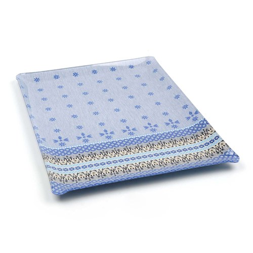 荷蘭BunzlauCastle 藍白地中海圖紋木製托盤 (藍)