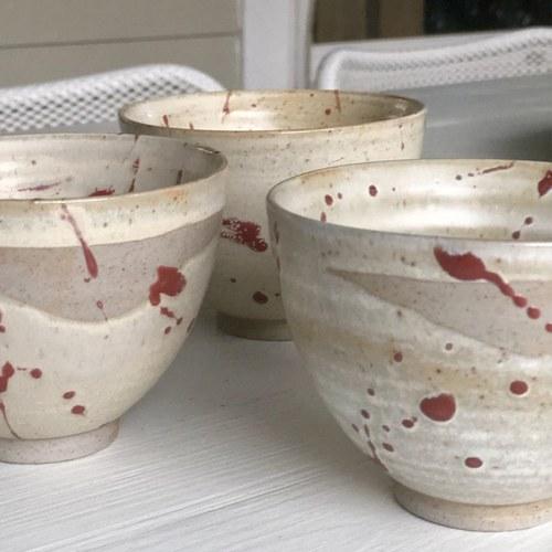 荷蘭HkLiving 京都和風紅棕色濺墨餐碗