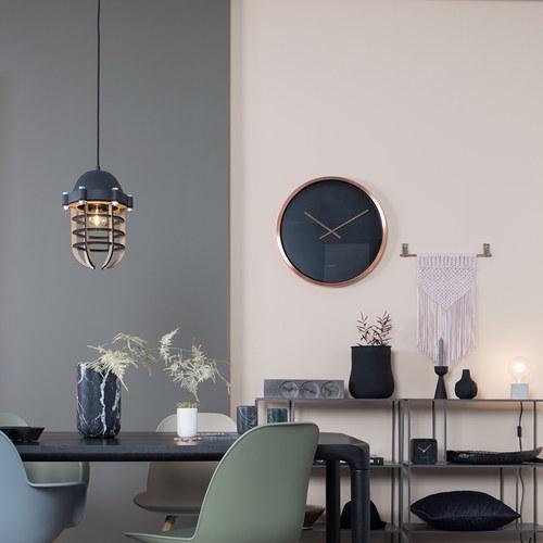 荷蘭Zuiver簡約圓形金屬掛鐘(古銅)