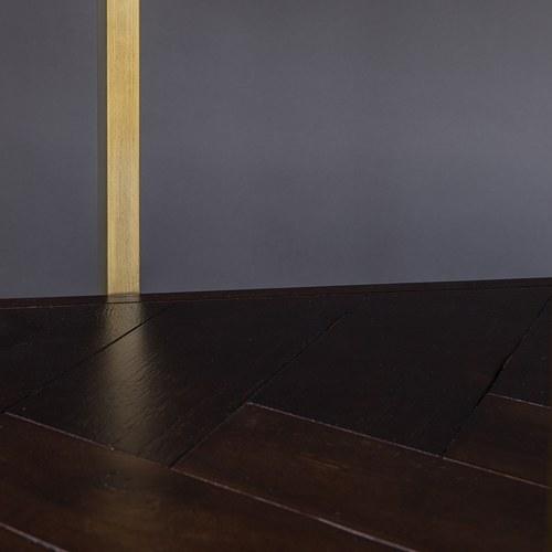 荷蘭Zuiver經典深木色人字貼層架