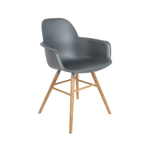 荷蘭Zuiver艾伯特簡約弧形扶手椅(深灰)