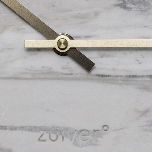 荷蘭Zuiver 天然大理石牆面掛鐘(白)