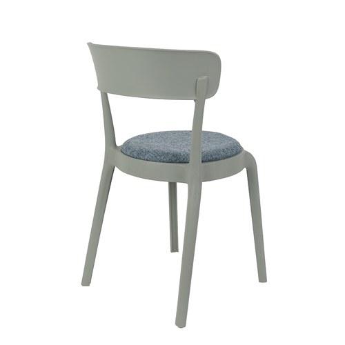 荷蘭Zuiver 弧形軟墊可堆疊單椅(深灰)