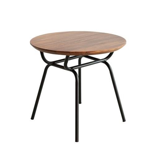 泰國OKWood 金屬腳圓形邊桌 (柚木)