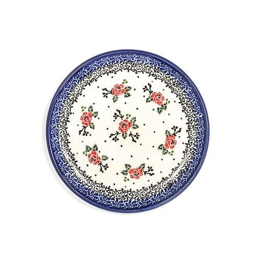 荷蘭BunzlauCastle 經典玫瑰圖紋蛋糕盤 (直徑16公分)