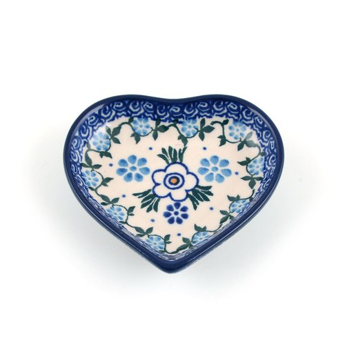 荷蘭BunzlauCastle 花瓣歐蕾圖紋心型茶包碟