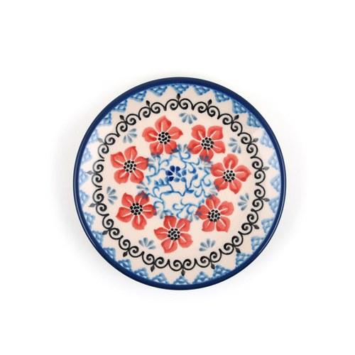 荷蘭BunzlauCastle 紫羅蘭圖紋蛋糕盤 (直徑12.3公分)