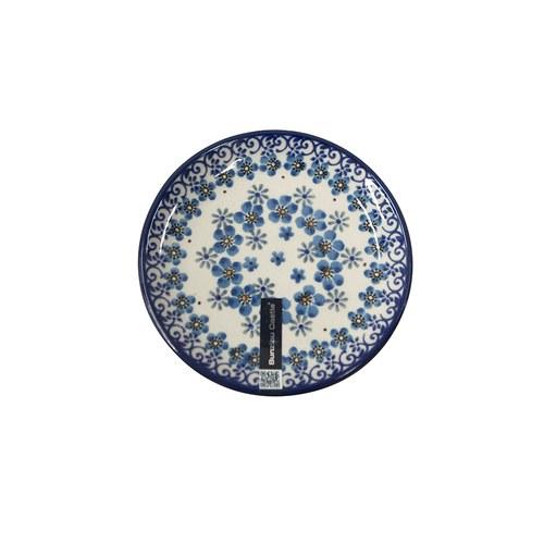 荷蘭BunzlauCastle 秋意飛舞花卉圖紋蛋糕盤 (直徑12.3公分)