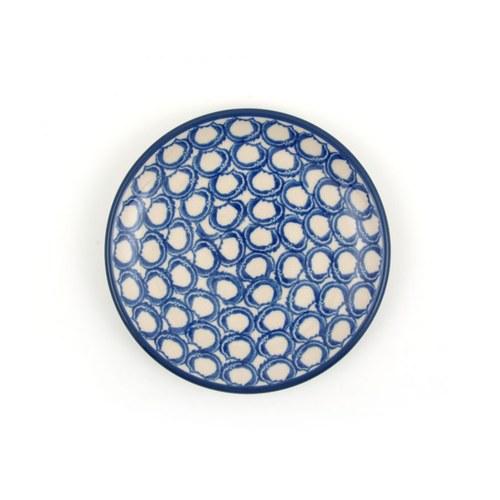 荷蘭BunzlauCastle 葉片圖紋蛋糕盤 (直徑12.3公分)