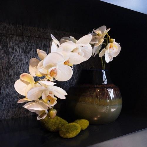 荷蘭Emerald人造花藝 白色蝴蝶蘭 (長86公分)