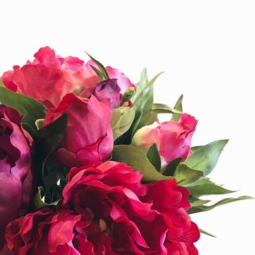 荷蘭Emerald人造花藝 紅色牡丹花束