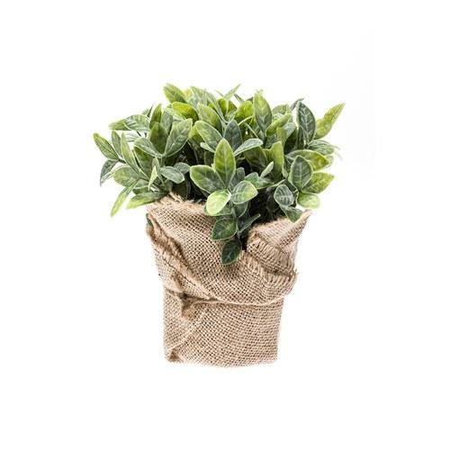 荷蘭Emerald人造植栽 田園薄荷葉 (麻布盆)
