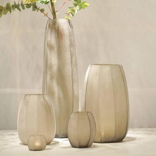 德國Guaxs玻璃花器 KOONAM系列 (煙燻灰、高68公分)