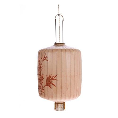 荷蘭HkLiving 秋紅竹葉提籠燈飾 (復古紅棕)