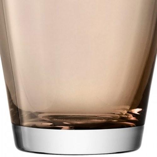 英國LSA 艷彩透底廣口玻璃杯 (摩卡棕)