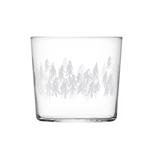 英國LSA 冷杉圖案平底玻璃杯4入組