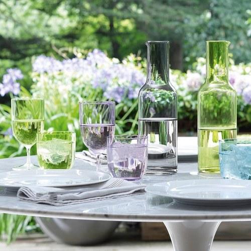英國LSA 微透春彩玻璃水杯2入組 (萊姆綠)