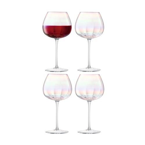 英國LSA 貝殼絢彩紅酒杯4入組 (460毫升)