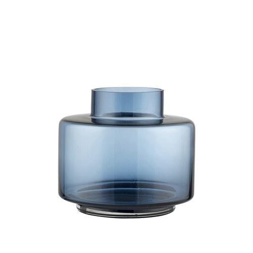 丹麥LeneBjerre 優雅圓柱狀花器 (藍、高16公分)