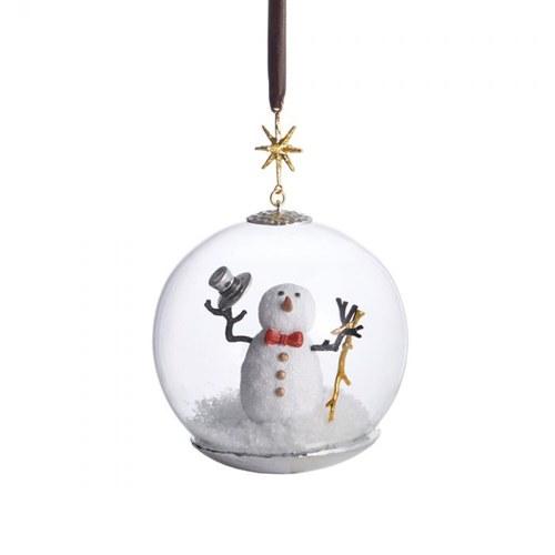 美國MichaelAram工藝飾品 銀白雪人球型吊掛裝飾