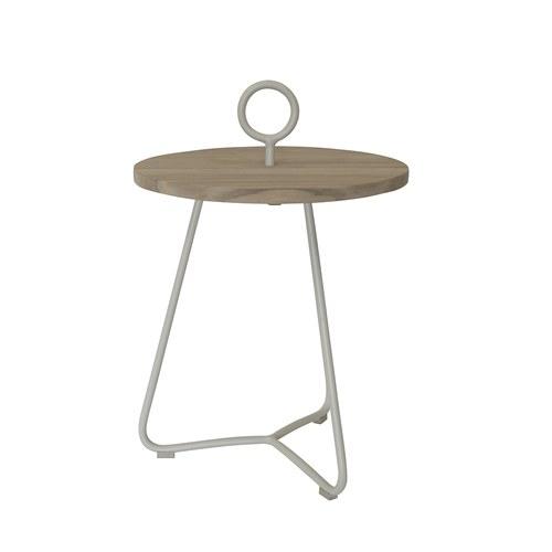 荷蘭Woven+戶外家具 海之女神柚木邊桌 (石灰白)