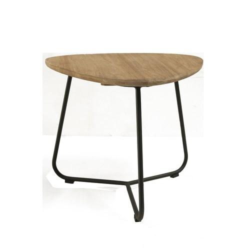 荷蘭Woven+戶外家具 斐濟海島柚木邊桌 (黑)