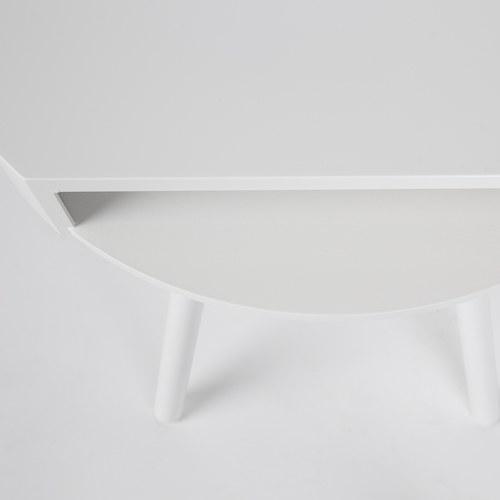 荷蘭Zuiver 切口造型捉迷藏邊桌 (白)