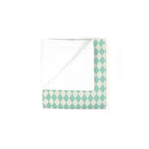 西班牙Nobodinoz 有機棉嬰幼兒棉被(幾何方塊綠)