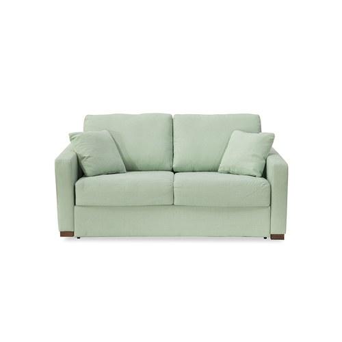 波蘭Sits Lukas典雅布面雙人沙發床 (薄荷綠)