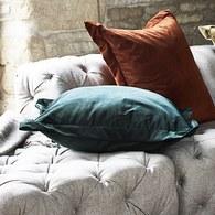 英國Alexander&James 天鵝絨手工靠枕 (磚紅)